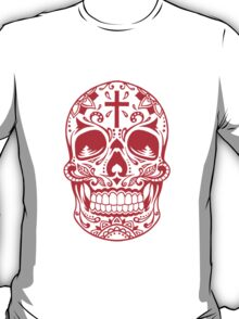 Sugar Skull, Day Of the Dead, Halloween Red SugarSkull T-Shirt