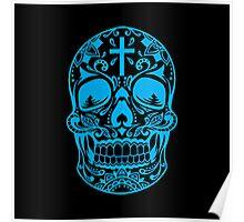 Sugar Skull, Day Of the Dead, Halloween Teal SugarSkull Poster