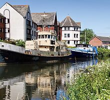 Old Boats Along The Exeter Canal by Susie Peek