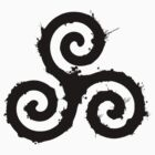 Triskelion 1 Black (Splatter) by WincestSounds