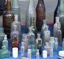 antique wine bottles by mrivserg