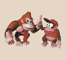 Donkey kong and Diddy Kong by Cyaniiide
