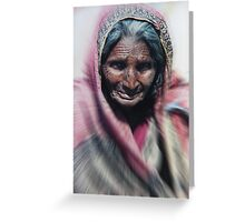 Aged beauty zoom burst Greeting Card