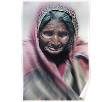 Aged beauty zoom burst Poster
