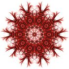 Red Colour Digital Pattern Kaleidoscope 01 by fantasytripp