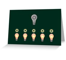Teamwork concept Greeting Card