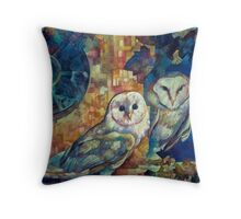 barn owls Throw Pillow