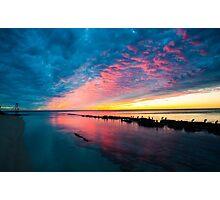 Sunset Reds Photographic Print