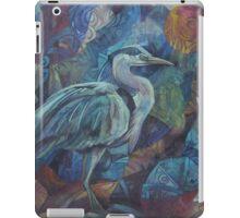 grey heron  iPad Case/Skin