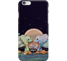 Lotus Flower Elephants of the Rainbow iPhone Case/Skin