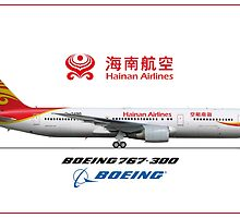 Airlines Colletion Boeing 767-300 Hainan by wilsoncara