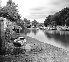 Old Boat at Twickenham Riverside by Rob Howard