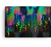 Light Games and Reflections in a Lift Canvas Print