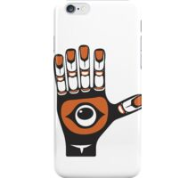 open hand - aboriginal art stylization iPhone Case/Skin