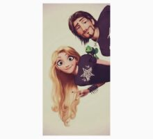 Punk Tangled Rapunzel and Flynn Rider T-Shirt