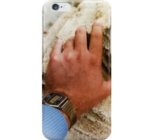 hand on stone iPhone Case/Skin