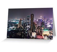 Night in Bangkok Greeting Card