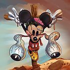Crucified Mickey by firehazzard