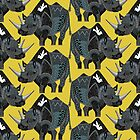 rhinoceros yellow by Sharon Turner