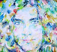 ROBERT PLANT - watercolor portrait by lautir