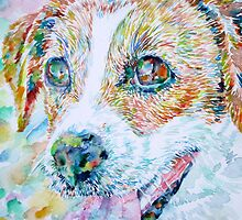 JACK RUSSELL TERRIER - watercolor portrait.1 by lautir