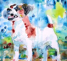 JACK RUSSELL TERRIER - watercolor portrait.2 by lautir