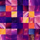 Purple Geometric Design Squares Pattern Abstract IV by Irina Sztukowski