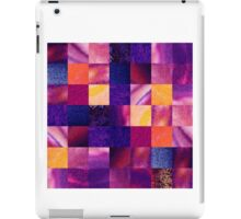 Purple Geometric Design Squares Pattern Abstract IV iPad Case/Skin
