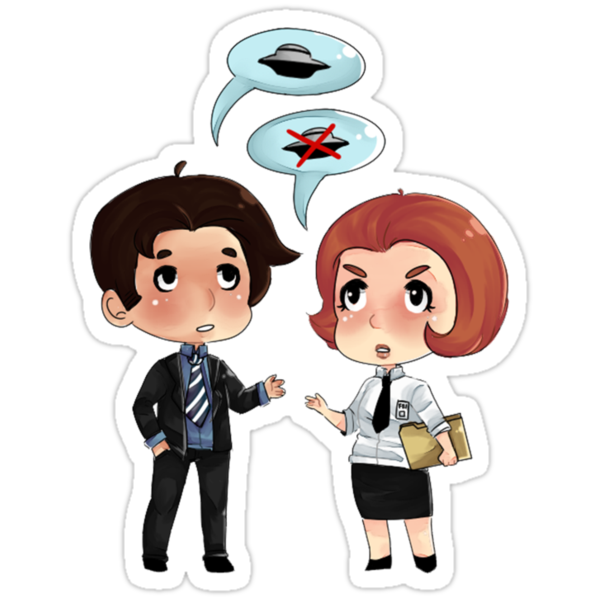 Scully and Mulder  by CautiousCake