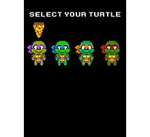 Select Your Turtle (Donatello) - TMNT Pixel Art Photographic Print