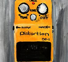 Distortion Pedal Guitar Pedal Original Art by JamesPeart