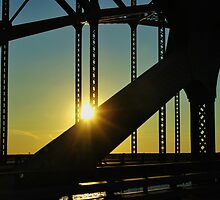 Sunset on a Bridge by Gilda Axelrod