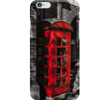 The Red Phone Booth iPhone Case/Skin