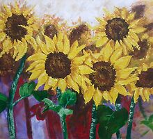 Glorious Sunflowers by TonyBroadbent