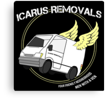 Icarus Removals Canvas Print