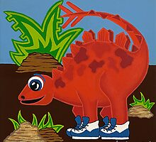 Red Dinosaur by Lisa Frances Judd~QuirkyHappyArt