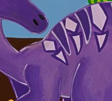 Purple Dinosaur Sticker