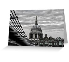 St Paul's Cathedral Monochrome Greeting Card