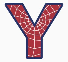 Y letter in Spider-Man style by Stock Image Folio