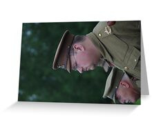 A Great War Soldier - The Birmingham Pals Greeting Card