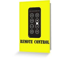Remote Control Greeting Card