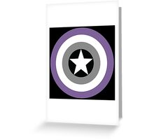 Asexual Flag Cap Shield Greeting Card
