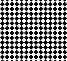 Black and White Checkerboard by melangetulsa