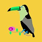 Toucan Throw Pillows Yellow by Vitta