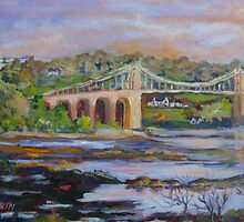 Menai Bridge, Wales by Saga Sabin