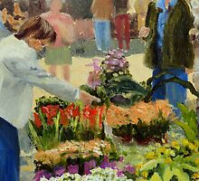 The flower seller, by Janet Holter by HurstPainters