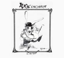 ALICE IN WONDERLAND - The White Rabbit, by Ralph Steadman by CaptainTrips