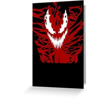 Carnage Red Greeting Card