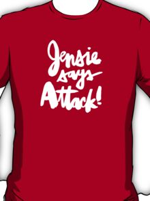 Jensie Says Attack! BLK T-Shirt