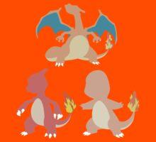 Kanto Starters - The Charmander Evolutions by Racheya